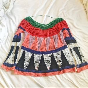 Free People Sweaters - Free People Patterned + Knit Oversized Sweater